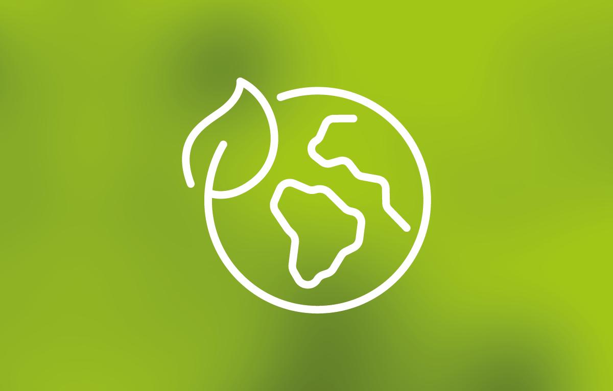 Erde mit Schirm - Klimaschutzprojekte bei KUNK