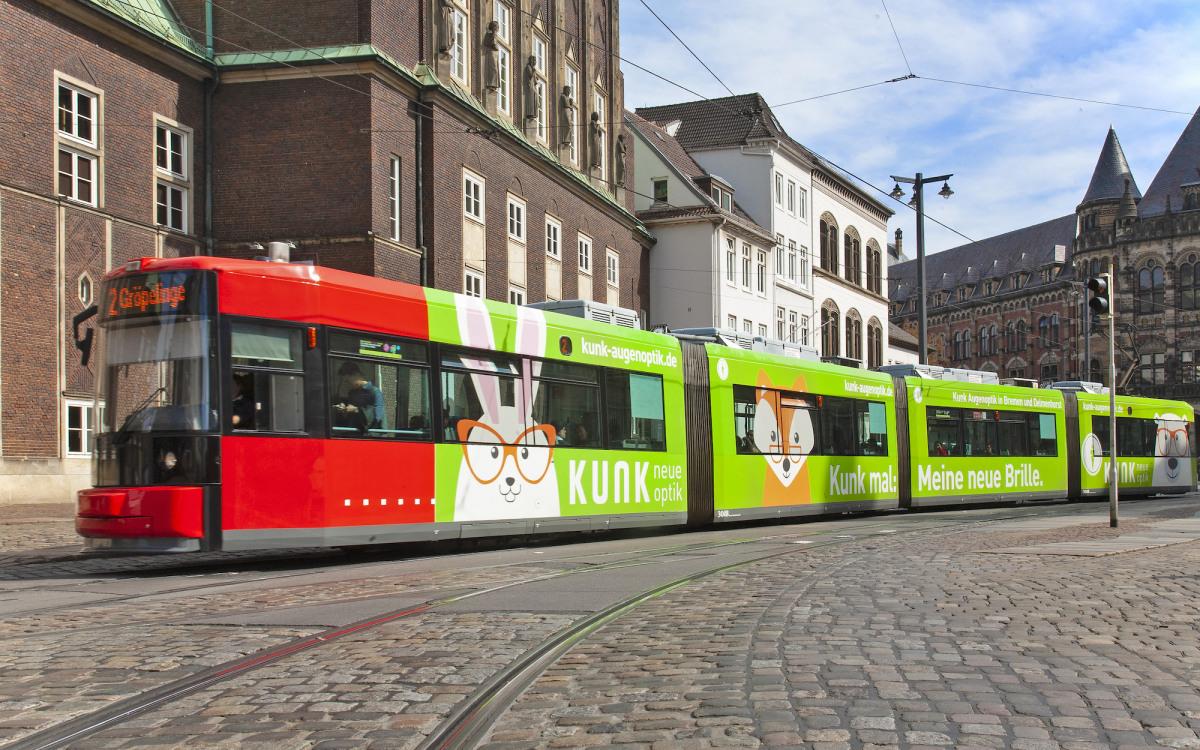 Die Kunk Straßenbahn in Bremen