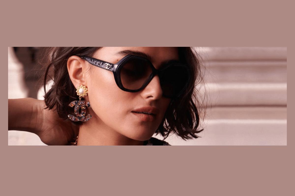 Chanel Brille und Sonnenbrille für Damen im Gesicht einer Frau.