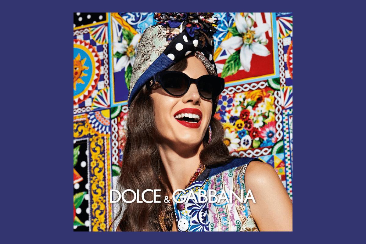 Buntes Foto mit schöner Frauenbrille von Dolce&Gabbana