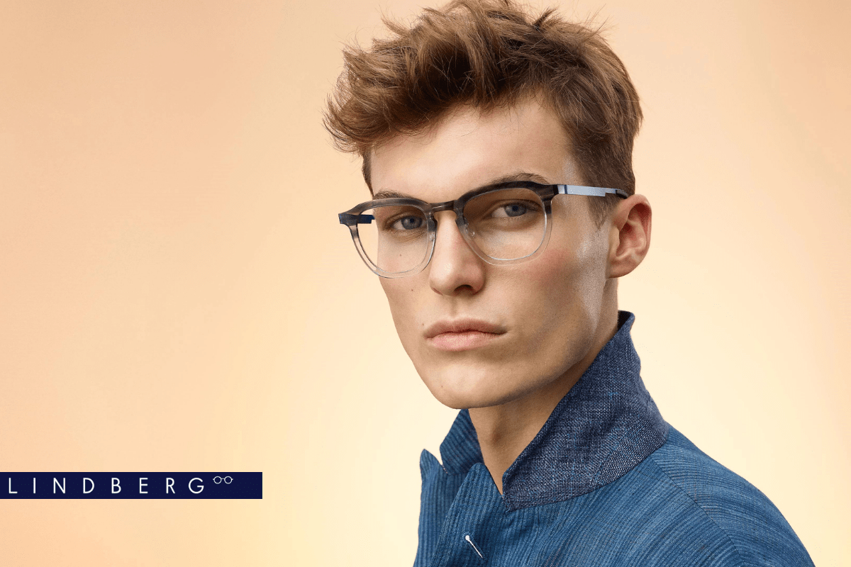 Junger Mann mit LINDBERG Brille aus Acetat