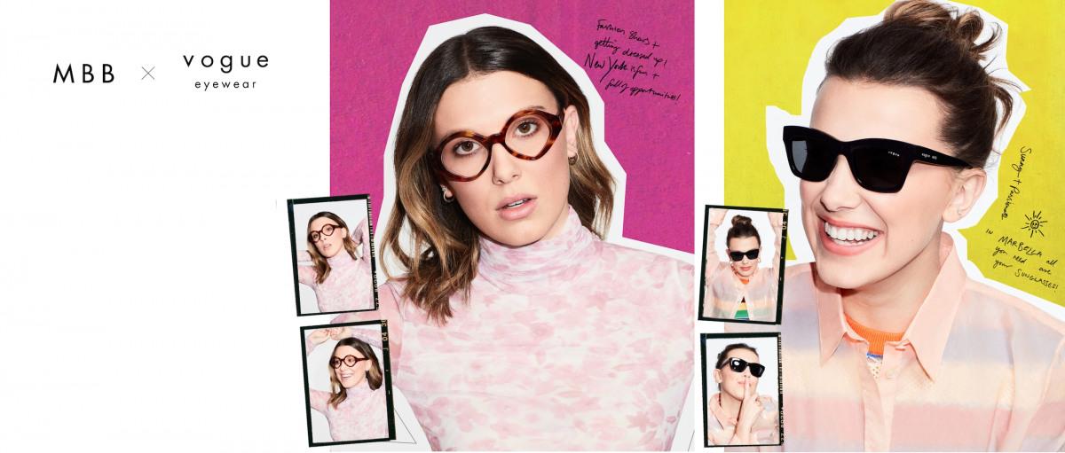 Zwei Frauen mit Vogue Brillen für Damen.