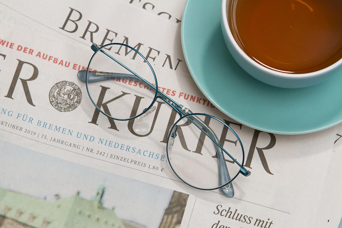 etnia Barcelona Brille auf Weserkurier in Bremen