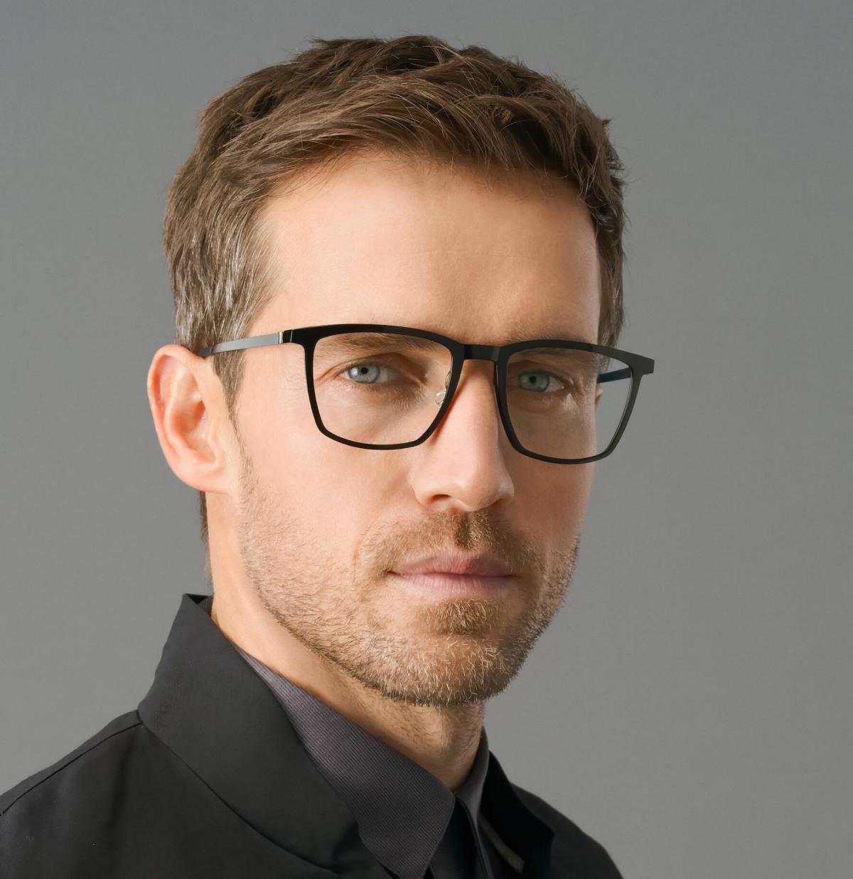 ein Model trägt Lindberg Brille 1260