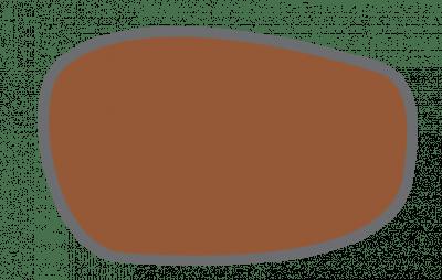Darstellung eines Brillenglases mit 75 prozentiger Absorption des Lichts.