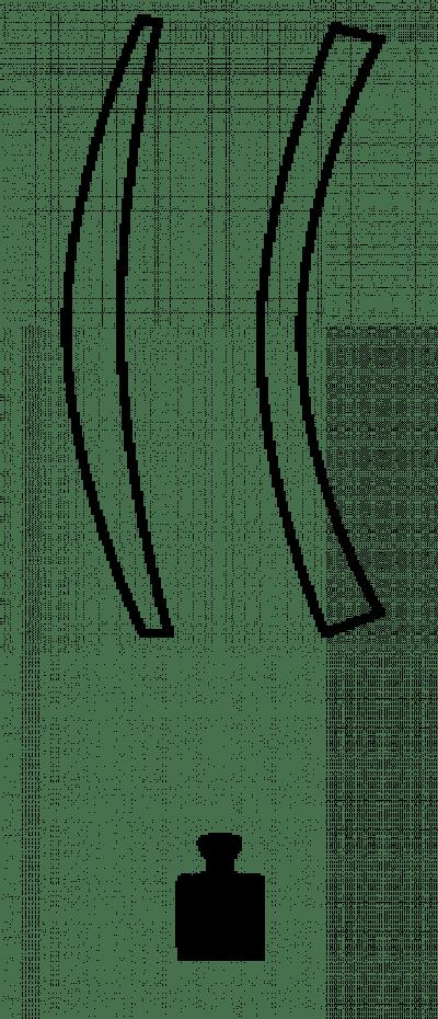 Abbildung vom Querschnitts eines Brillenglases.